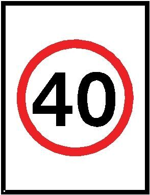 40km speed limit sign