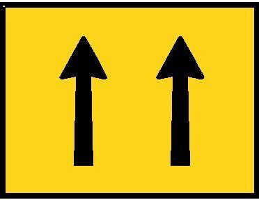 2 lane status sign
