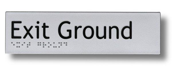 Braille sign - Exit Ground