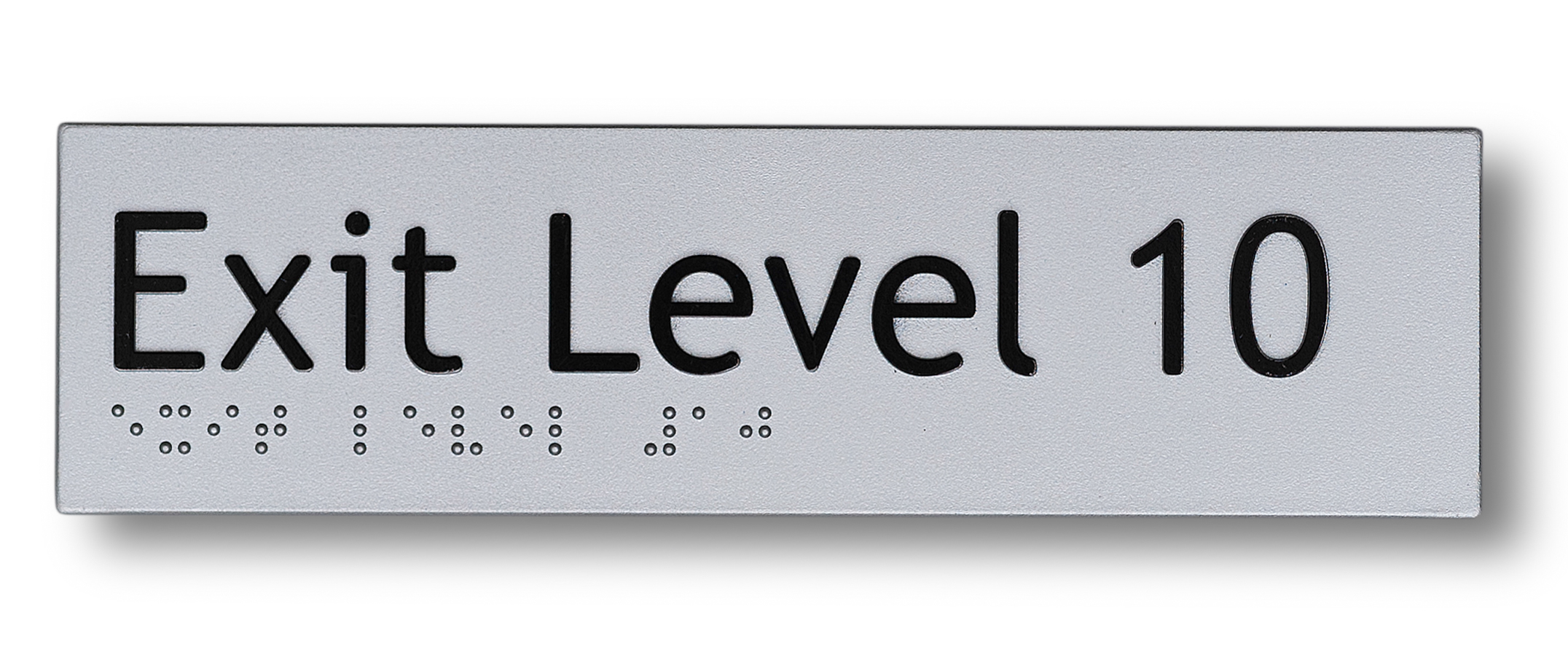 Braille sign - Exit level 10
