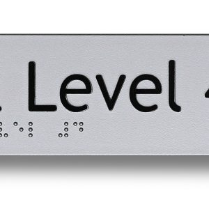 Braille sign - Exit level 4