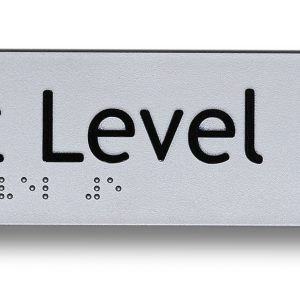 Braille sign - Exit level 5