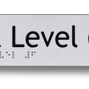 Braille sign - Exit level 6