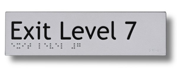 Braille sign - Exit level 7