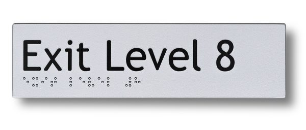 Braille sign - Exit level 8