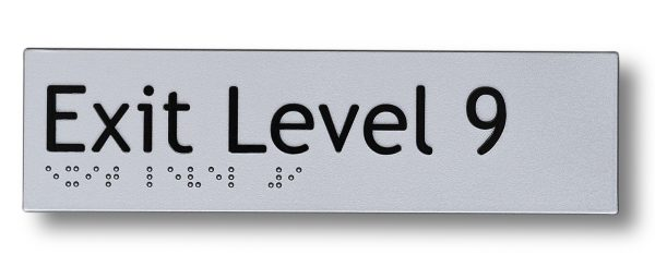 Braille sign - Exit level 9