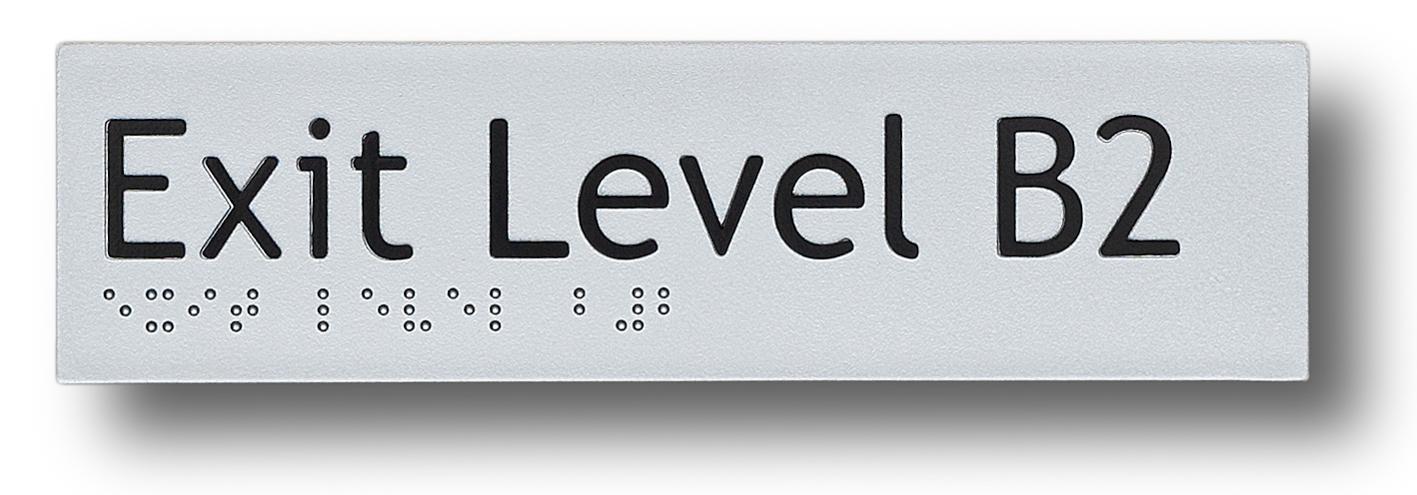 braille sign exit level basement 2 (B2)
