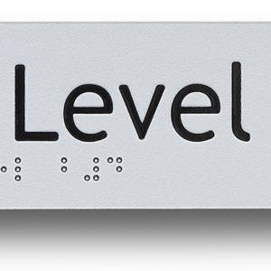 braille sign exit level basement 4 (B4)