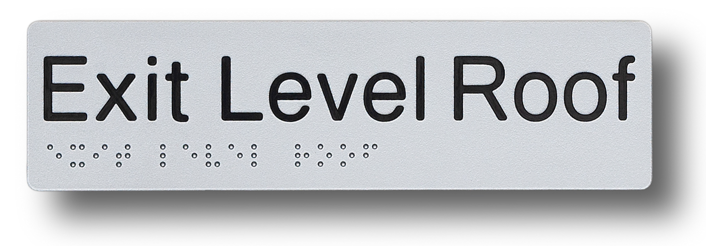 braille sign exit level roof