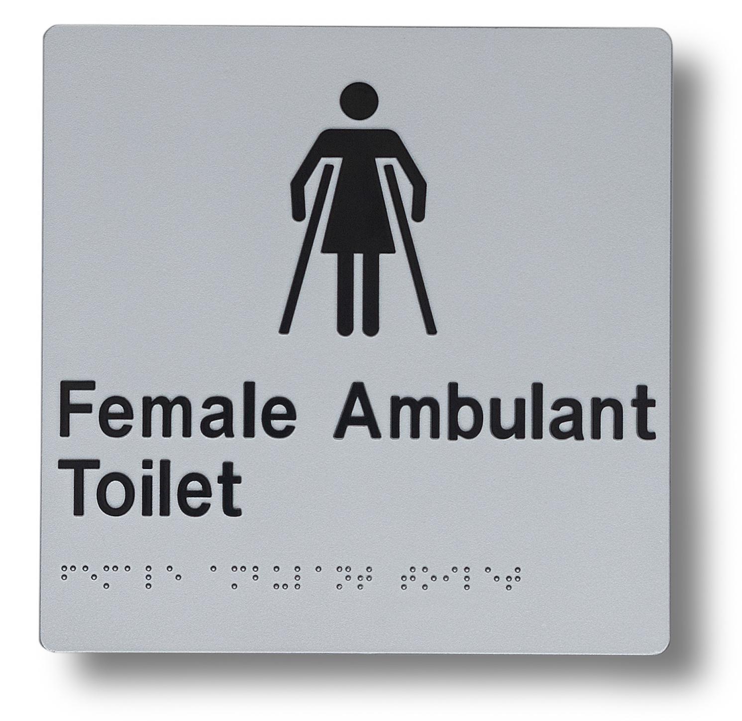 Braille sign - Female Ambulant Toilet
