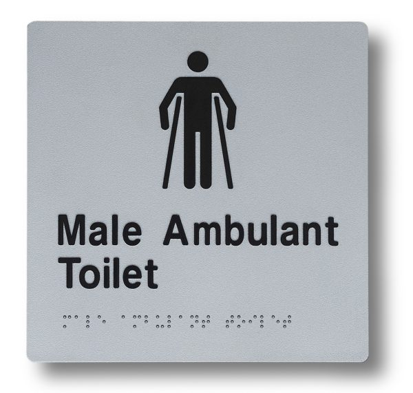 Braille sign - Male Ambulant Toilet