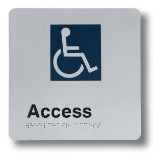 Braille sign - Access Entry