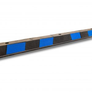 Disabled wheel stop 1650mm with blue reflective