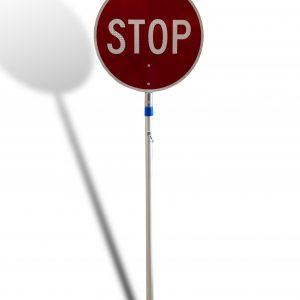 Traffic control stop slow bat