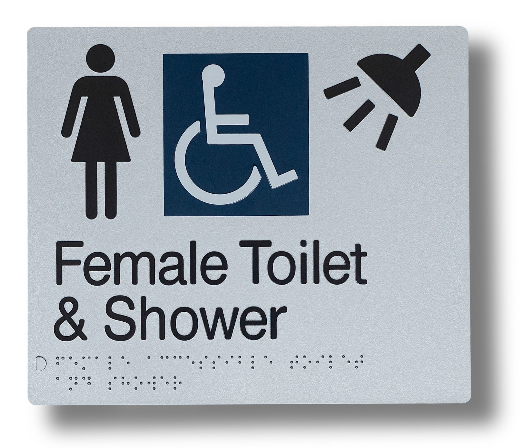 Braille sign - Female toilet and shower