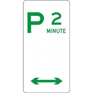 parking sign 2 minute