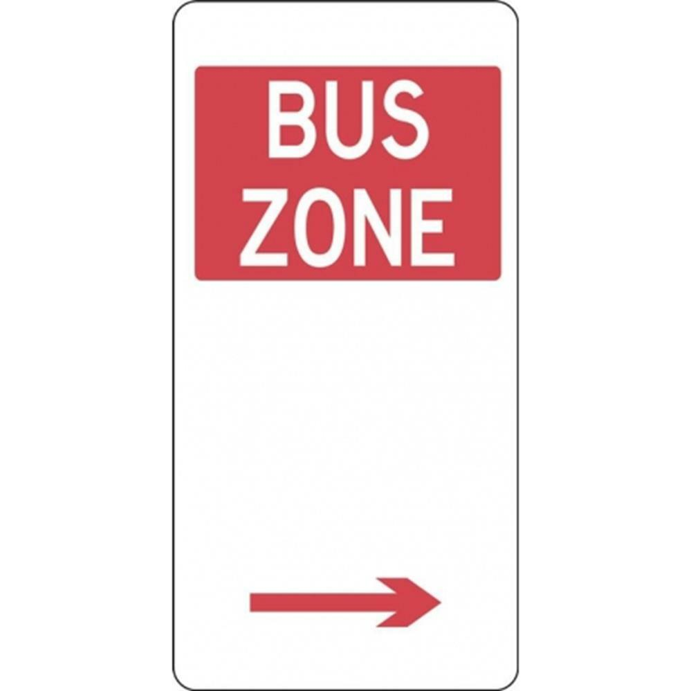 bus zone sign
