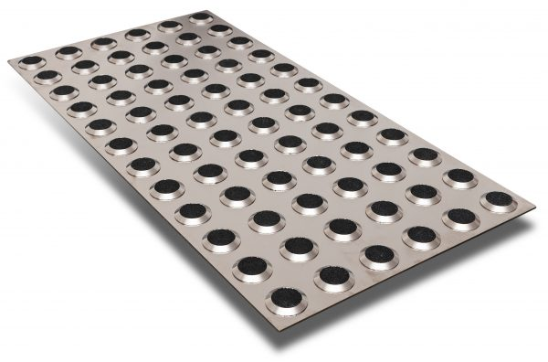 tactile indicator stainless steel plate with black carb