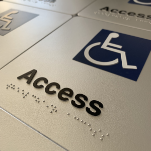 Braille - Accessible Entry Signs