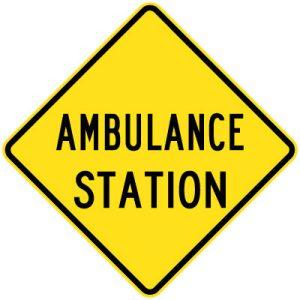 Ambulance Station sign