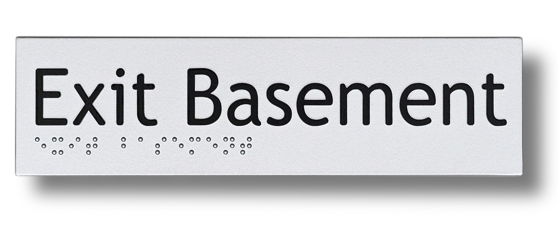 Braille sign - Exit Basement