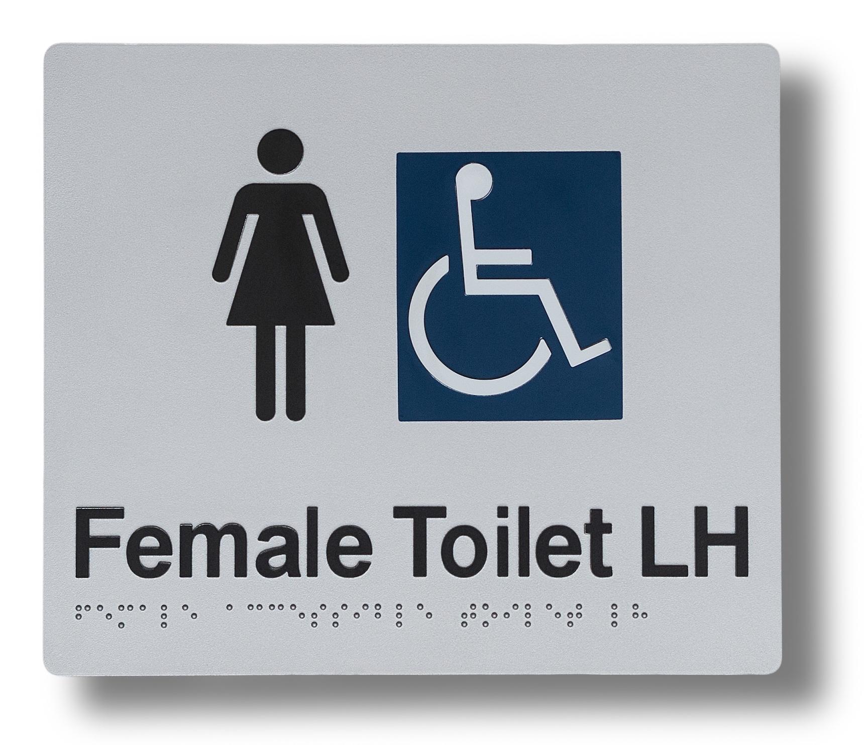 Braille sign - Female Toilet