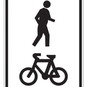 Shared footway path sign