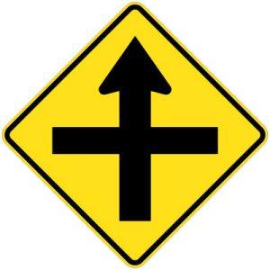 Crossing symbolic sign