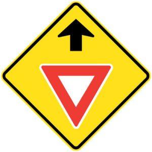 Give Way Ahead sign