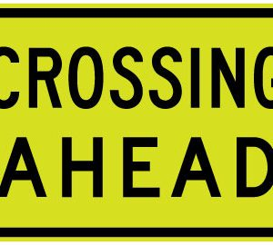 Crossing ahead sign