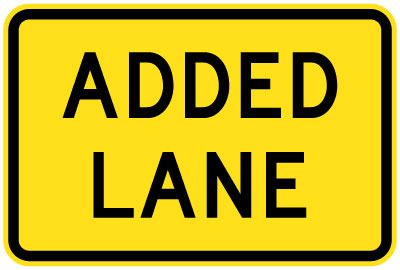 Added lane sign