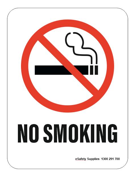 No smoking aluminium sign 300mm x 225mm