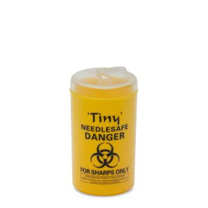 clinical waste container yellow round