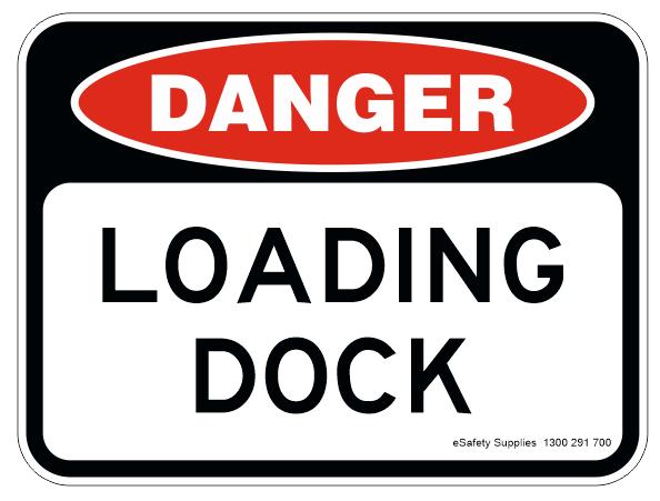 danger loading dock sign