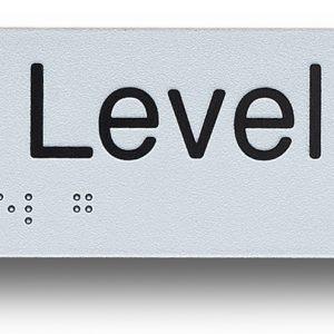 braille sign exit level g (ground)