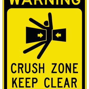 crush zone sign