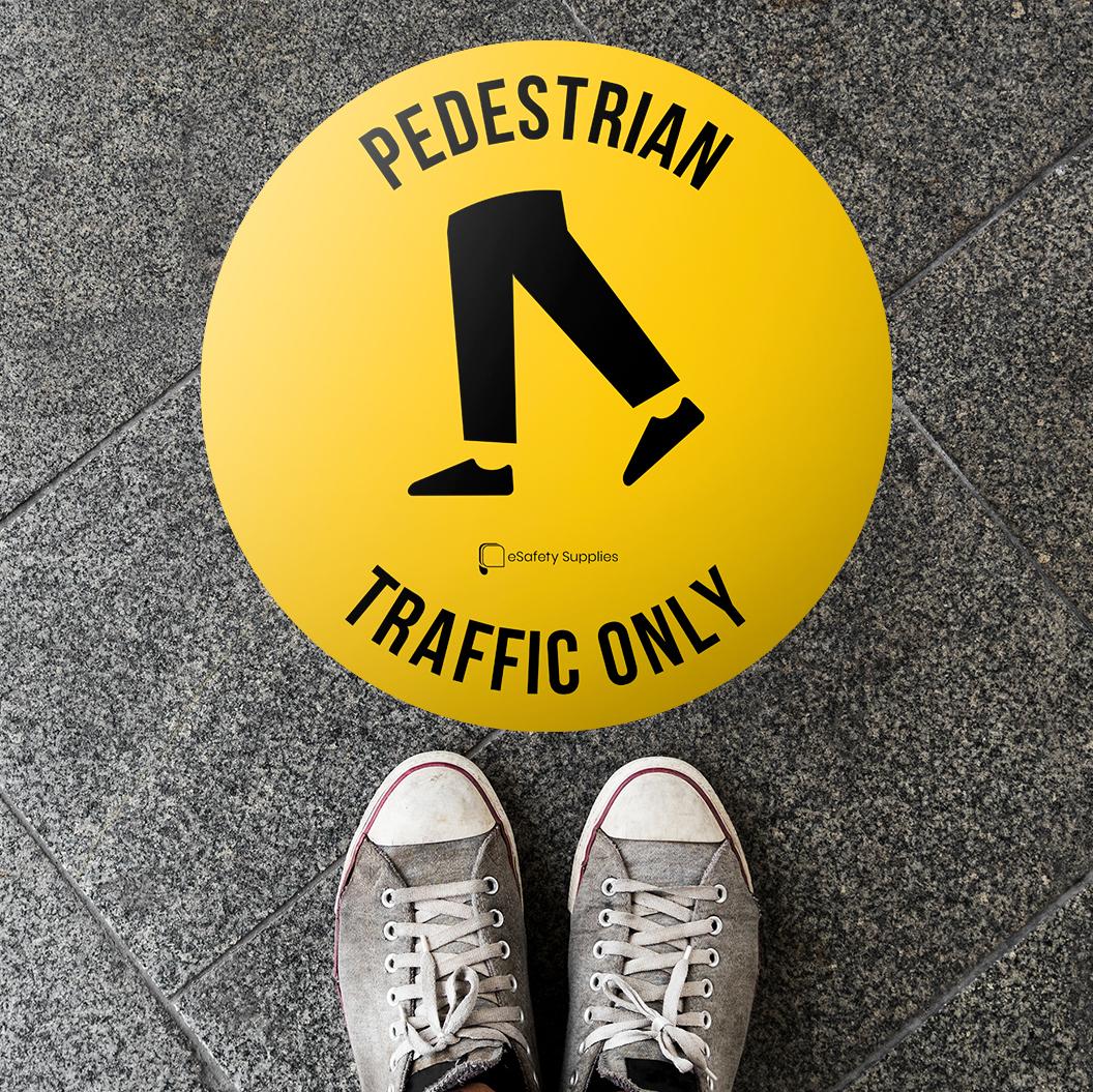 pedestrian traffic only floor sticker