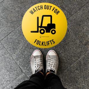 Floor Warning Safety Stickers