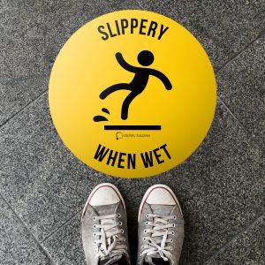 Slippery When Wet Floor Sticker