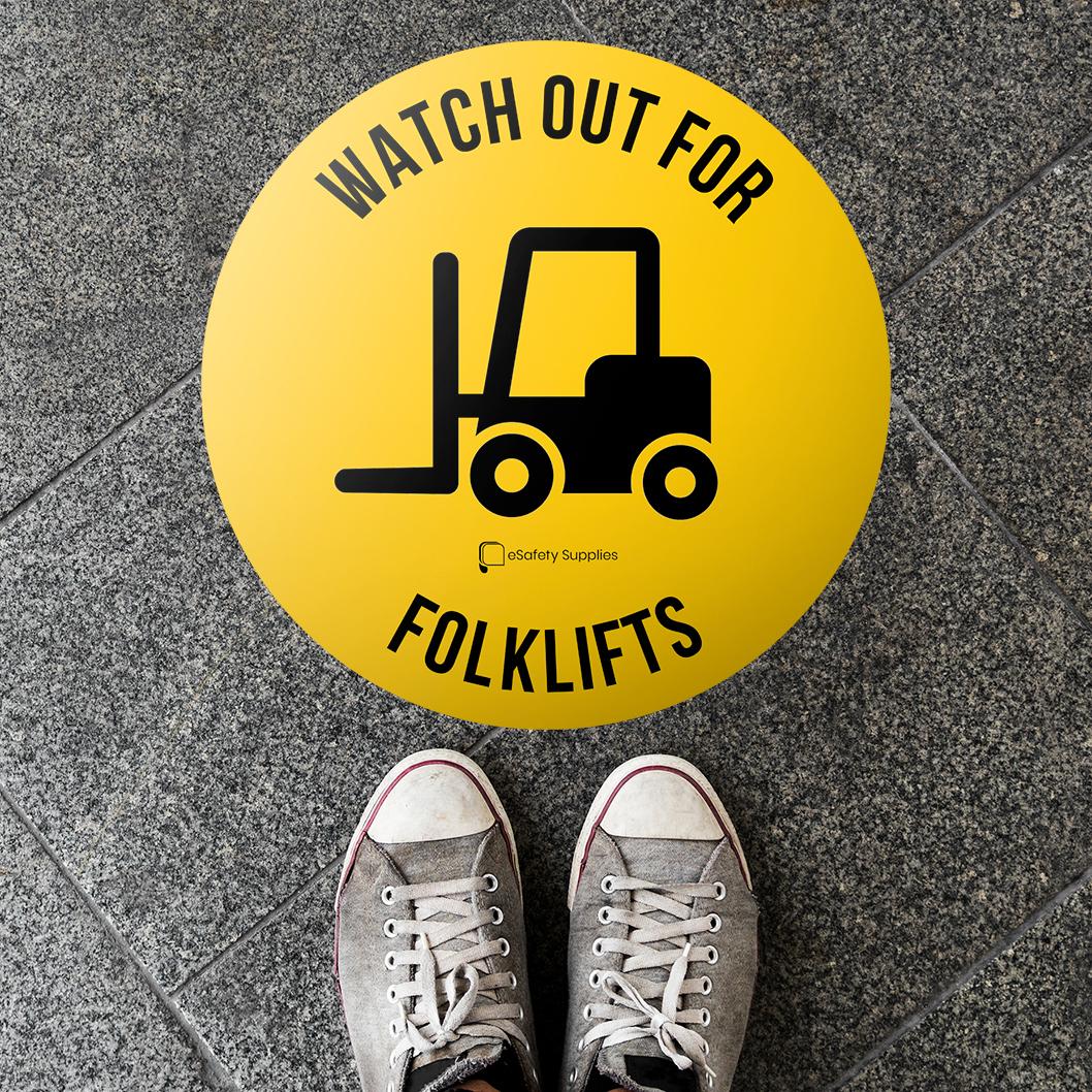 Forklifts Floor Sticker