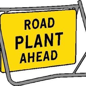 road plant ahead